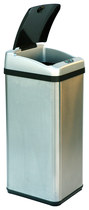 iTouchless - 13-Gal. Touchless Trash Can - Stainless-Steel
