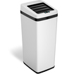 iTouchless - 14-Gal. Touchless Trash Can - White
