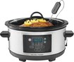 Hamilton Beach - Set & Forget 5-Quart Slow Cooker - Silver/Black