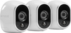 NETGEAR - Arlo Smart Home Indoor/Outdoor Wireless High-Definition IP Security Cameras (3-Pack) - White/Black