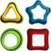 Tiggly - Shapes Geometric Shapes (4-Count) - Red/Blue/Green/Yellow