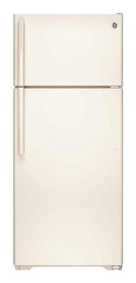 GE - 17.5 Cu. Ft. Frost-Free Top-Freezer Refrigerator - Bisque