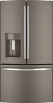 GE - 27.7 Cu. Ft. French Door Refrigerator with Thru-the-Door Ice and Water - Slate