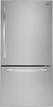 LG - 23.8 Cu. Ft. Bottom-Freezer Refrigerator - Stainless-Steel