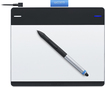 Wacom - Intuos Creative Pen and Small Touch Tablet - Silver/Black