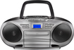Insignia™ - CD/Cassette Boombox with AM/FM Radio - Black/Gray