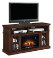 """Twin-Star - Dakota TV Stand with Electric Fireplace for Most Flat-Panel TVs Up to 65"""" - Brown"""