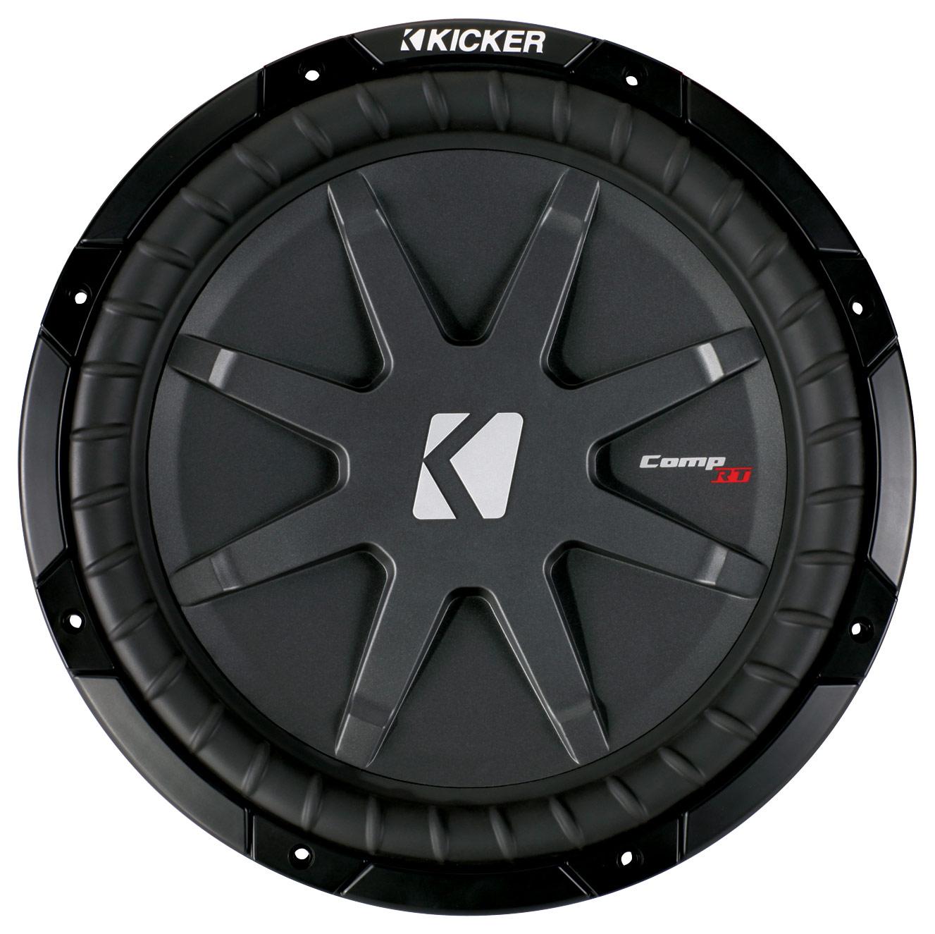 Kicker - CompRT 12 Dual-Voice-Coil 1-Ohm Subwoofer - Black