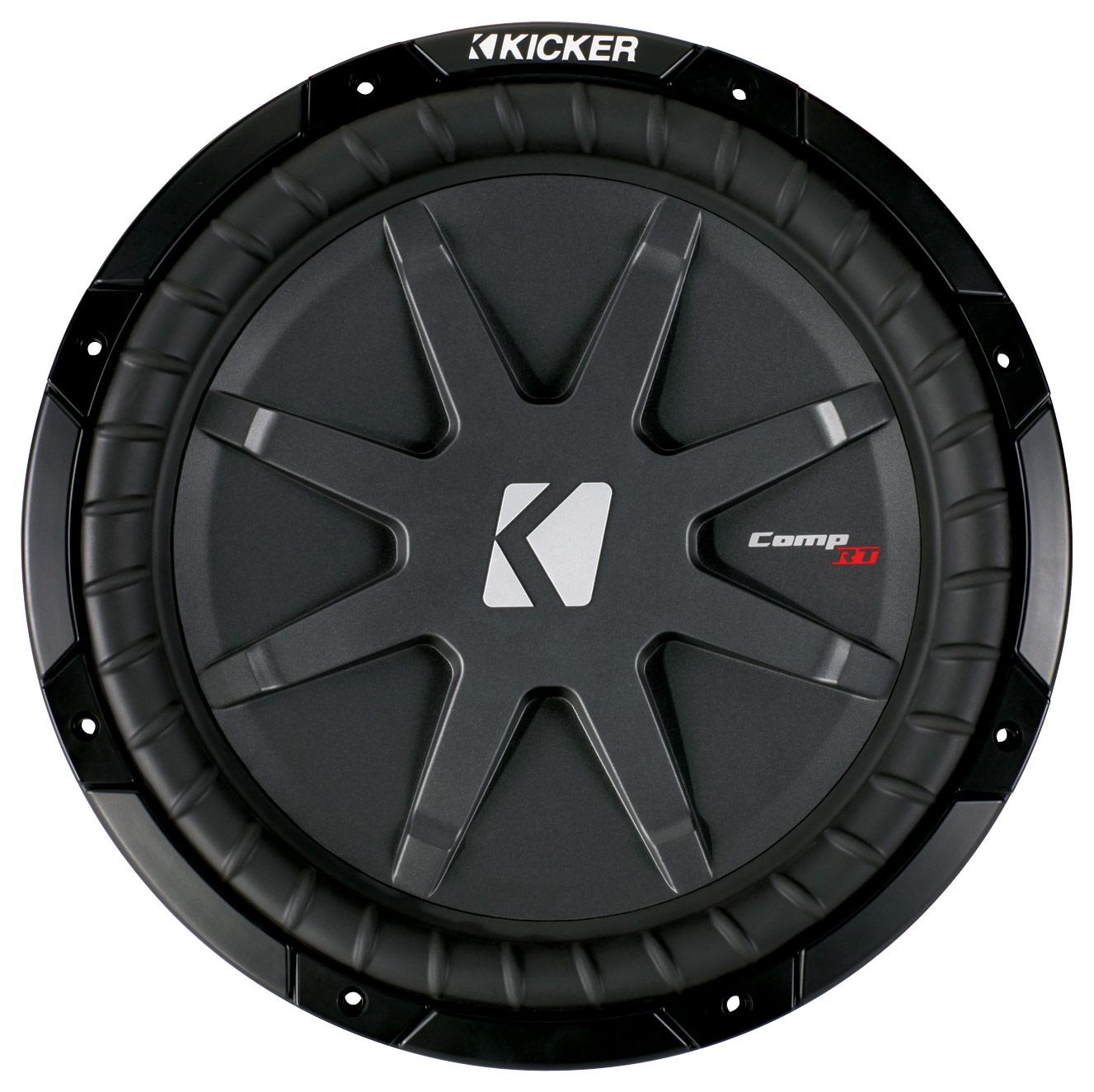 """Kicker - CompRT 12"""" Dual-Voice-Coil 2-Ohm Subwoofer - Black"""