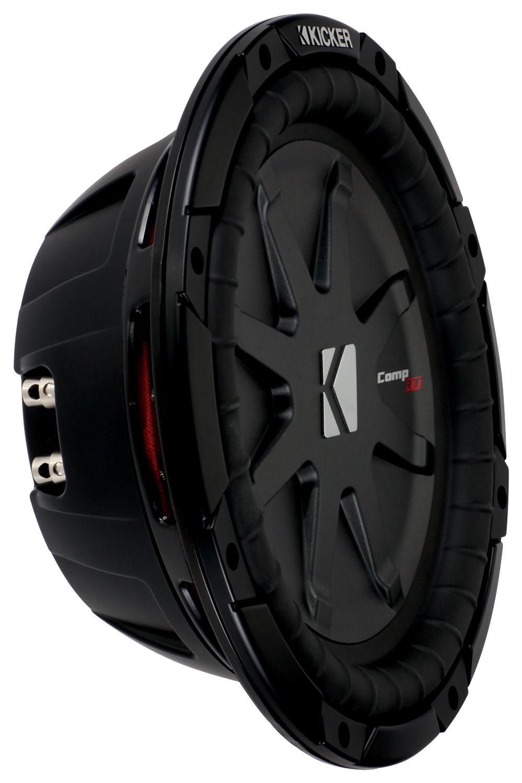 """Kicker - CompRT 10"""" Dual-Voice-Coil 1-Ohm Subwoofer - Black"""