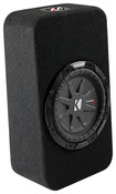 "Kicker - CompRT 8"" Dual-Voice-Coil 2-Ohm Loaded Subwoofer Enclosure - Black"