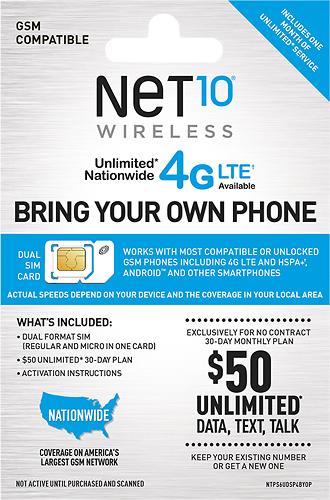 NET10 - 30-Day SIM Activation Kit