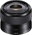 Sony - 35mm f/1.8 Prime Lens for Most NEX E-Mount Cameras - Black