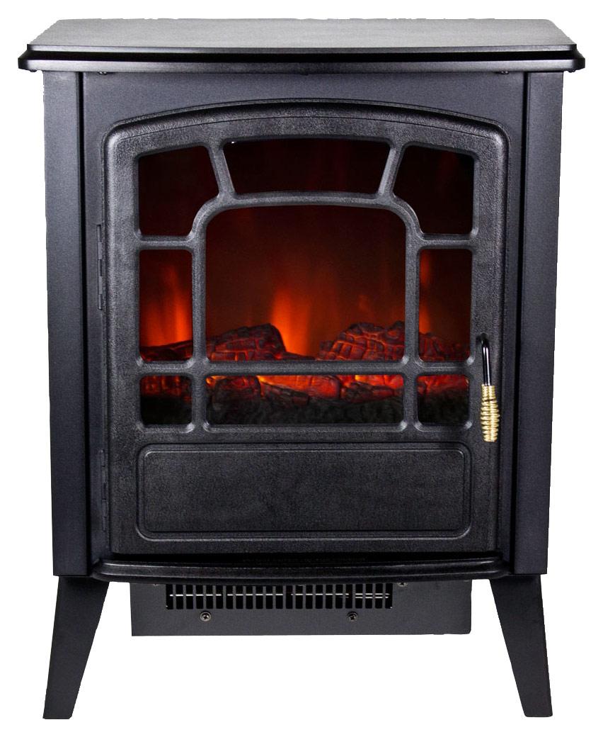 Frigidaire - Bern Floorstanding Electric Fireplace - Black
