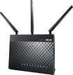 Asus - 802.11ac Dual-Band Gigabit Wireless Router - Black
