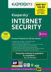 Kaspersky Internet Security 2015 - 3-User - Mac|Windows
