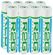 Lenmar - R2G Ready to Go Rechargeable AAA Batteries (8-Pack) - Blue