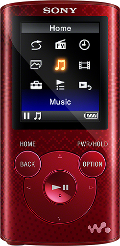 Sony - NWZ-E380 Series Walkman 4GB* Video MP3 Player - Red