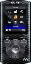 Sony - NWZ-E380 Series Walkman 8GB* Video MP3 Player - Black