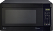 LG - 1.5 Cu. Ft. Mid-Size Microwave - Smooth Black