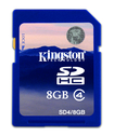 Kingston Technology - 8 GB Secure Digital High Capacity (SDHC) - 1 Card