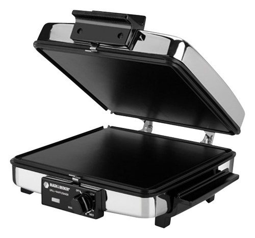 Black & Decker - 3-in-1 Grill, Griddle and Waffle Maker - Black
