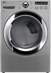 LG - SteamDryer 7.3 Cu. Ft. 9-Cycle Ultralarge Capacity Steam Electric Dryer - Graphite Steel