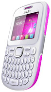 Blu - Samba TV Cell Phone (Unlocked) - White/Pink