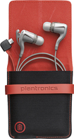 Plantronics - BackBeat GO 2 Bluetooth Earbud Headphones with Charging Case - Earbuds: White; Case: Black/Red