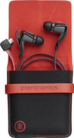 Plantronics - BackBeat GO 2 Bluetooth Earbud Headphones with Charging Case - Earbuds: Black; Case: Black/Red