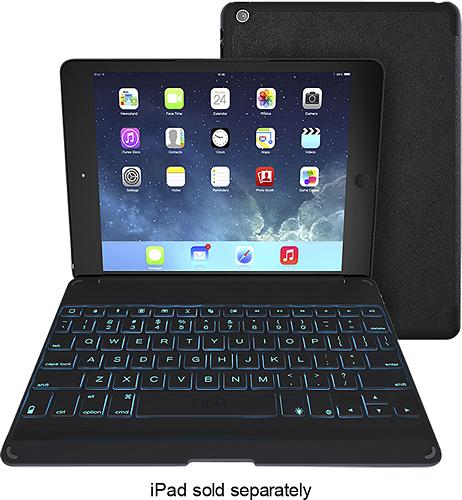 ZAGG - ZAGGkeys Folio Case and Bluetooth Keyboard for Apple® iPad® Air - Black