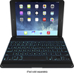 ZAGG - ZAGGkeys Cover and Bluetooth Keyboard for Apple® iPad® Air - Black