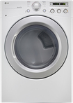 LG - 7.3 Cu. Ft. 7-Cycle Ultralarge-Capacity Electric Dryer - White