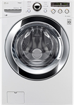 LG - SteamWasher 4.0 Cu. Ft. 9-Cycle Ultralarge-Capacity High-Efficiency Steam Front-Loading Washer - White