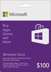 Microsoft - $100 Gift Card for the Windows Store - Purple/White