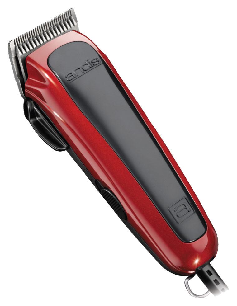 Andis - Easy Cut 20-Piece Hair Cutting Kit - Red Metallic/Black