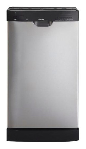 "Danby - 18"" Built-In Dishwasher - Black/Stainless Steel"