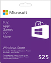 Microsoft - $25 Gift Card For The Windows Store - Purple/white
