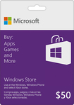 Microsoft - $50 Gift Card for the Windows Store - Purple/White