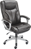 True Innovations - Simply Comfortable Bonded Leather Executive Chair - Roasted Chestnut