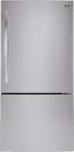 Lg - 23.8 Cu. Ft. Bottom-freezer Refrigerator - Stainless Steel