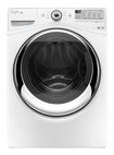 Whirlpool - Duet 4.3 Cu. Ft. 11-cycle High-efficiency Steam Front-loading Washer - White