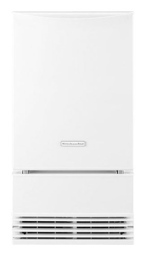 "KitchenAid - 18"" 51-Lb. Freestanding Icemaker - White"
