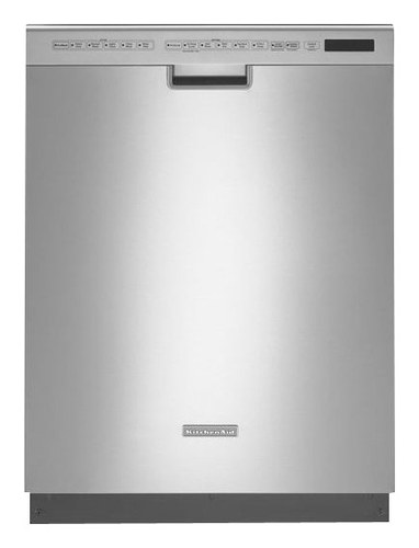 KitchenAid - Architect Series II 24 Front Control Tall Tub Built-In Dishwasher with Stainless Steel Tub - Stainless Steel