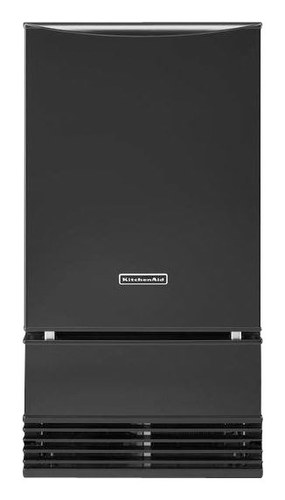 "KitchenAid - 18"" 51-Lb. Freestanding Icemaker - Black"