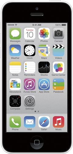 Apple - iPhone 5c 16GB Cell Phone - White (Sprint)