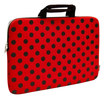 "Sumdex - NeoDots Sleeve for 15"" Apple® MacBook® - Red/Black"