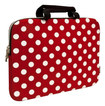 "Sumdex - NeoDots Sleeve for 15"" Apple® MacBook® - Red/White"