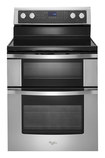 "Whirlpool - 30"" Self-Cleaning Freestanding Double Oven Electric Convection Range - Stainless-Steel"
