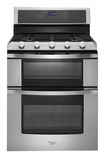"Whirlpool - 30"" Self-Cleaning Freestanding Double Oven Gas Convection Range - Stainless-Steel"